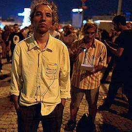 Erdem Gunduz in Taksim Square