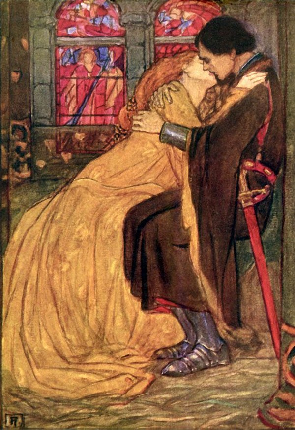 """Emma Florence Harrison, illustration to """"Guinevere"""" by Tennyson"""