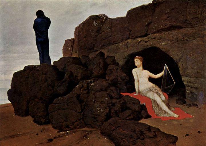 Arnold Böcklin, Odysseus und Kalypso