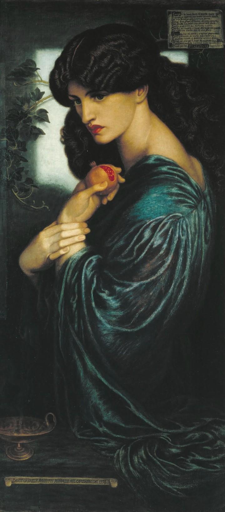 Dante Gabriel Rossetti, Proserpine (1874)