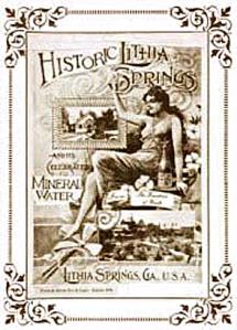 Una pubblicità dell'acqua minerale Lithia Springs (1888)