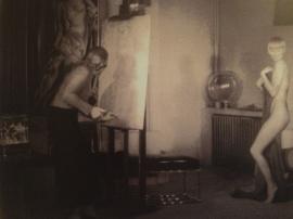 Tamara de Lempicka mentre ritrae Susy Solidor